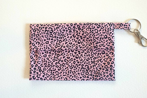 pink leopard print mask bag