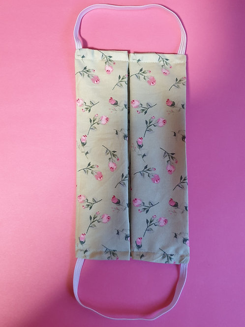 Rose print face covering