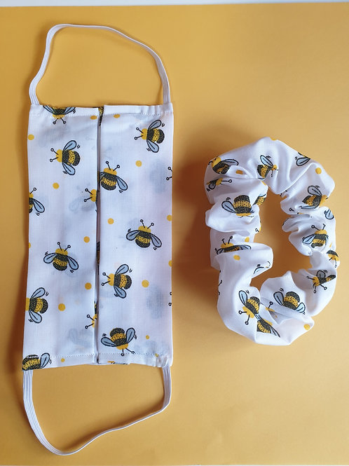 Bee and scrunchie set