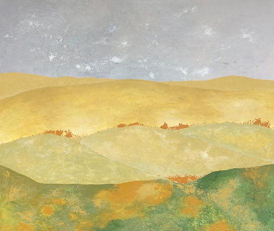 Le bruit de la terre, peinture acrylique sur toile, 2018