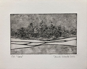 Dense, 2012, 17 X 21 cm, collagraphie