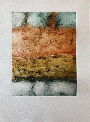 Lavoir Fontvieille 1, 2019, 30 X 22 cm (monotype),collagraphie