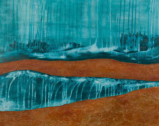 Territoire 8, peinture acrylique sur bois, 2013