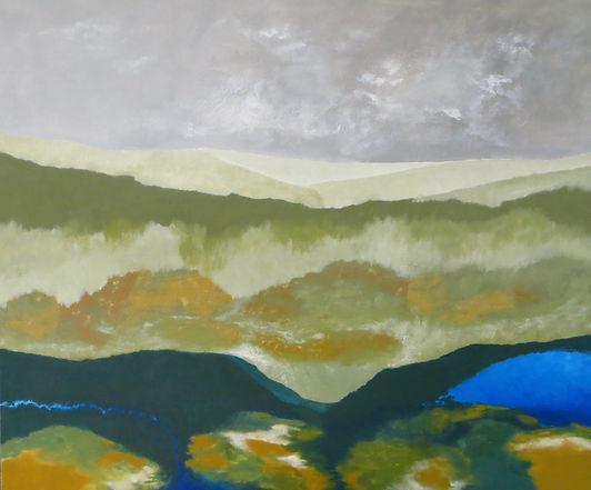 Le bruit du silence, peinture acrylique sur toile, 2018