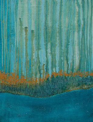 Territoire 14, peinture acrylique sur bois, 2014