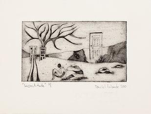 Incertitude, 2010, 17 X 22 cm, collagraphie