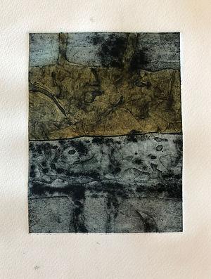 Lavoir Fontvieille 3, 2019, 30 X 22 cm (monotype), collagraphie