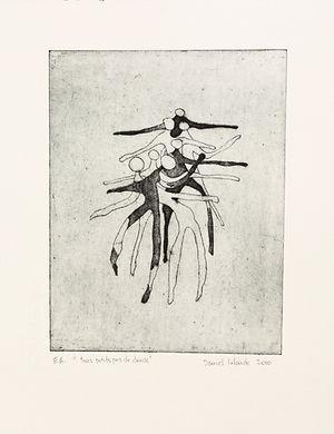 Trois petits pas de danse, 2010, 33 X 25 cm, collagraphie