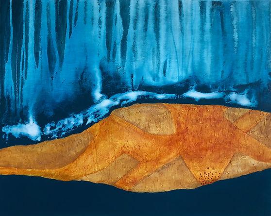 Territoire 19, peinture acrylique sur bois, 2014
