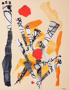 Sans roi ni toi, peinture acrylique, collage, 2009
