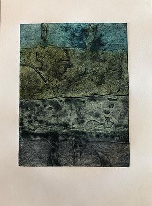 Lavoir Fontvieille 4, 2019, 30 X 22 cm (monotype), collagraphie