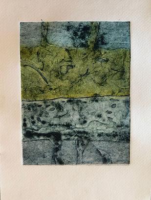Lavoir Fontvieille 2, 2019, 30 X 22 cm (monotype), collagraphie