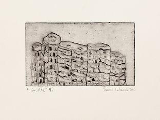 Tumulte, 2010, 17 X 23 cm, collagraphie