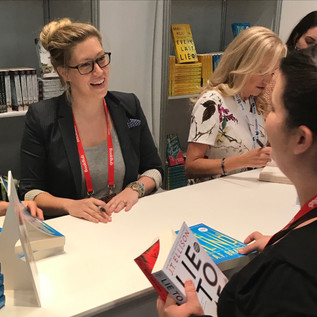 Signing books at BEA 2017 NYC