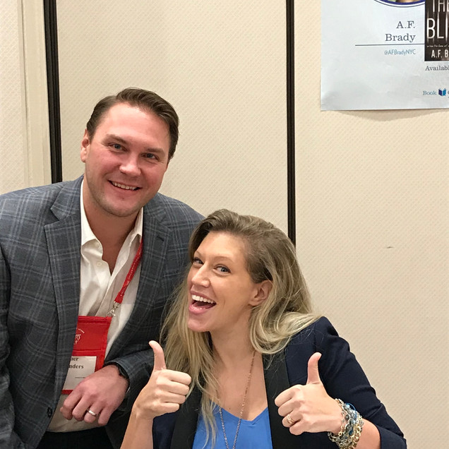 Fun with my Publicist Emer Flounders at Bouchercon 2017 in Toronto