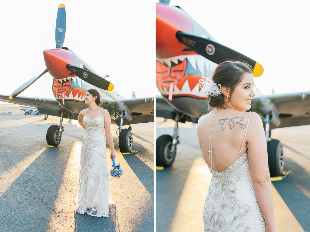 attitude aviation airplane hangar livermore bay area wedding photographer-2