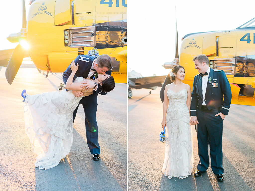attitude aviation airplane hangar livermore bay area wedding photographer-3