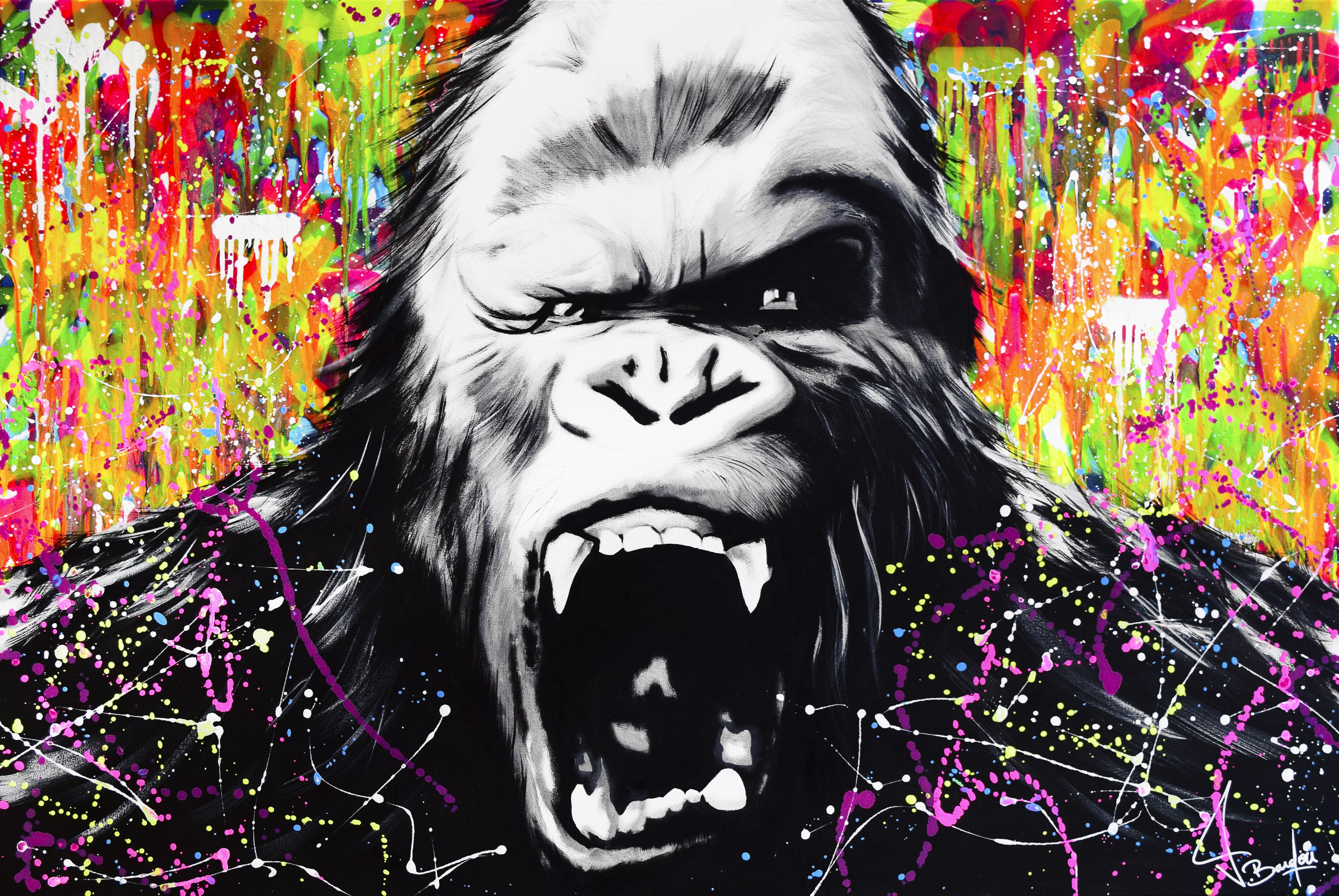 king kong painting