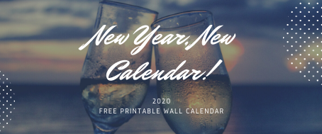 Are you ready for the new year? Here is a printable calendar for 2020 - so you can stay organised!