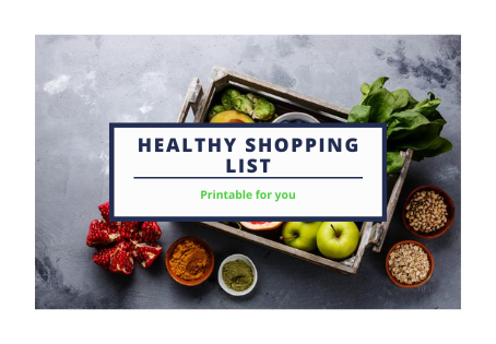 Healthy Shopping List- printable