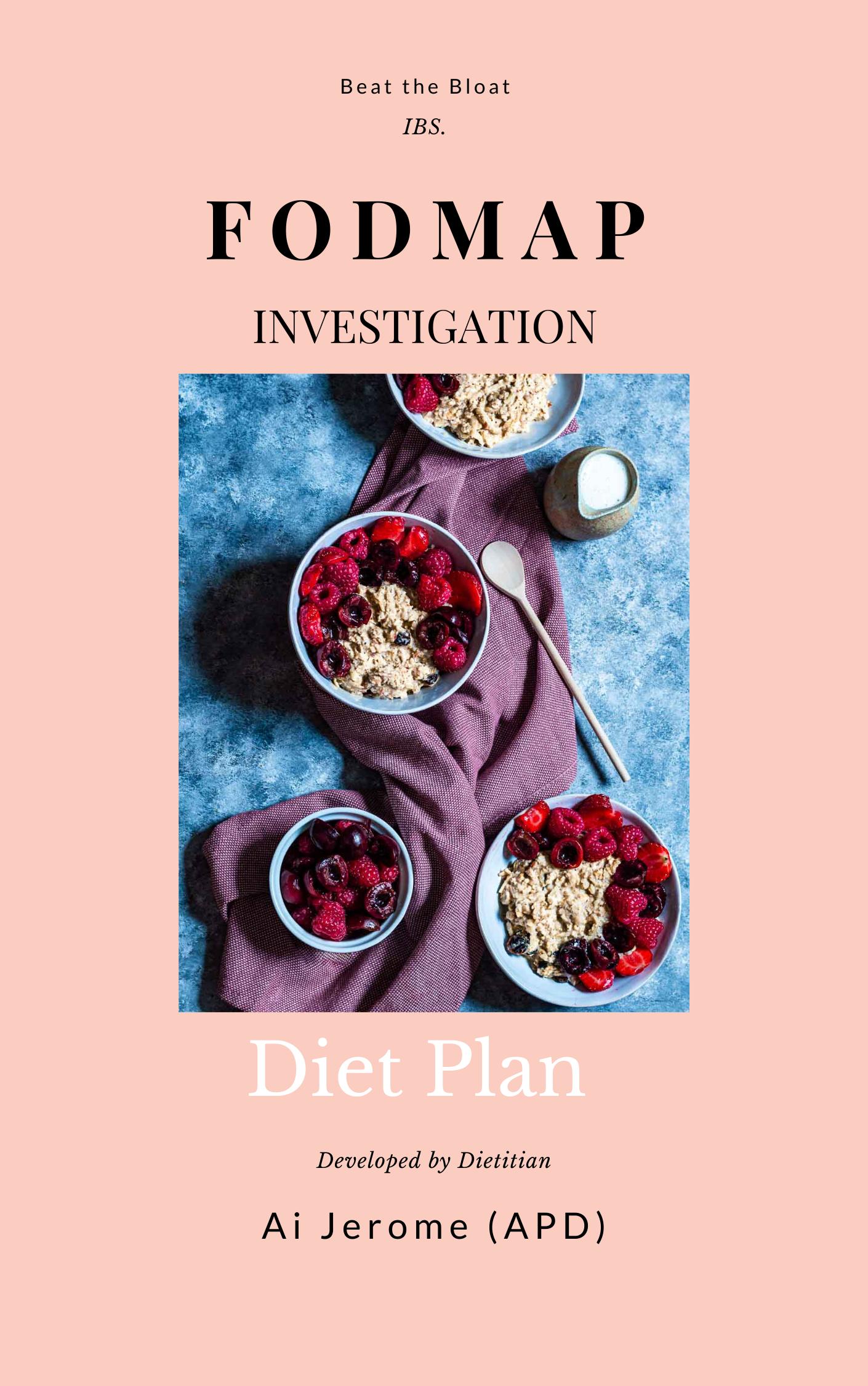 FODMAP Investigation Diet Plan eBook