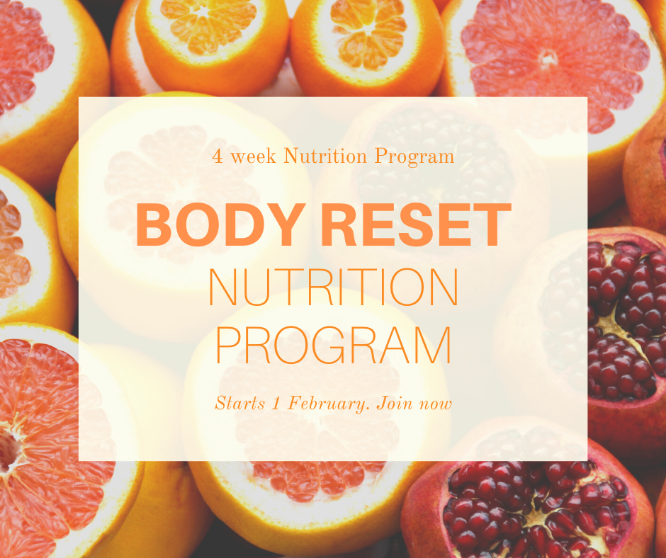 4 Week BODY RESET Nutrition Program