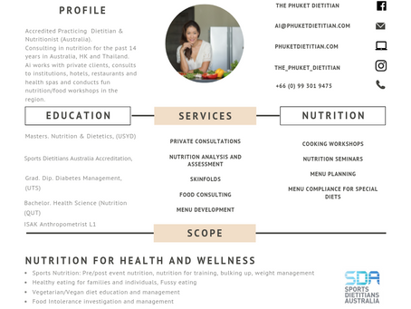 The Phuket Dietitian- Services