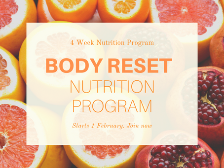 Starting Soon: The 4 Week BODY RESET Nutrition Program