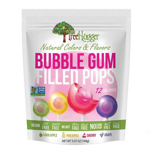 Tree Hugger Vegan Bubblegum Lollipops Bag