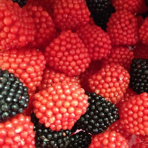 Red and Black Raspberry Gummi