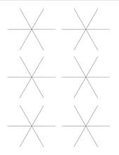 6 Snowflake Frames