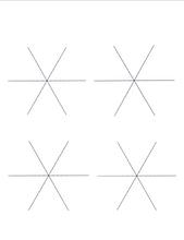 4 Snowflake Frames