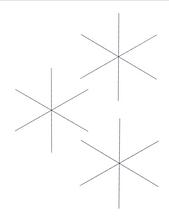 3 Snowflake Frames