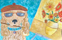Vincent Van Gogh's Dog - 4th Grade Project