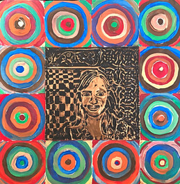Wassily Kandinsky Metal Self Portrait - 5th Grade Project