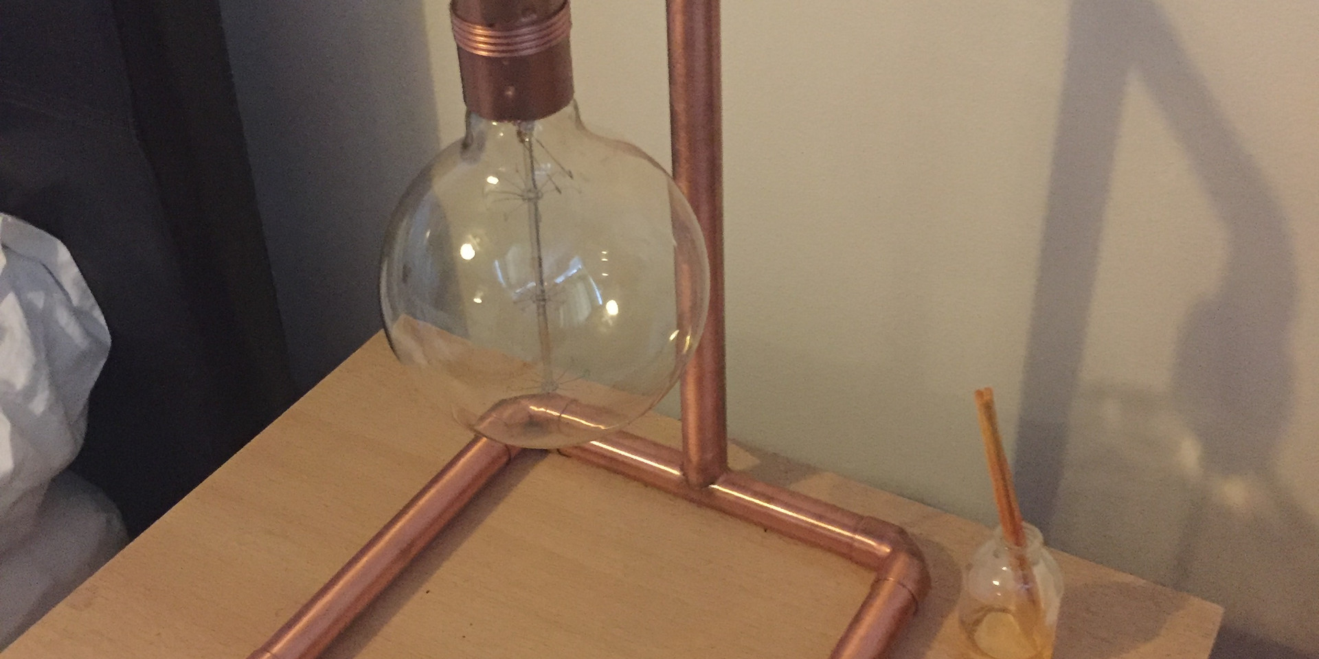 Industrial copper lamp