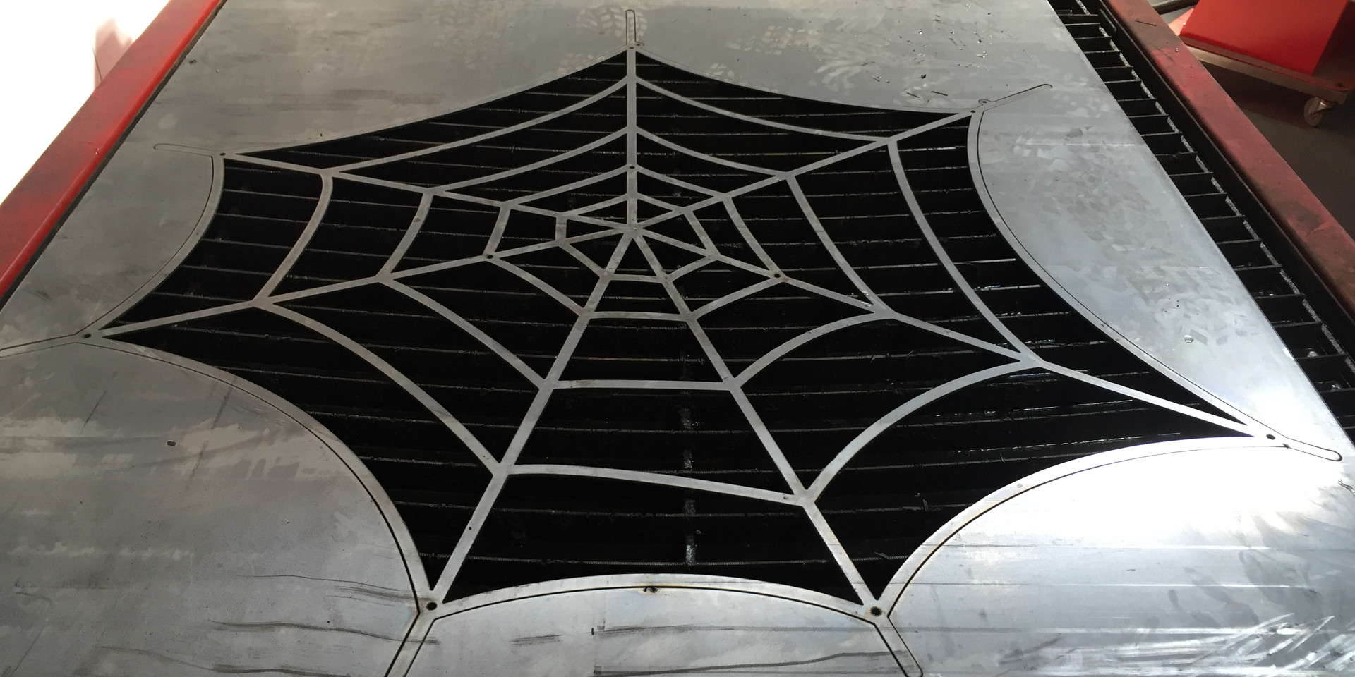 CNC plasma cut spiderweb