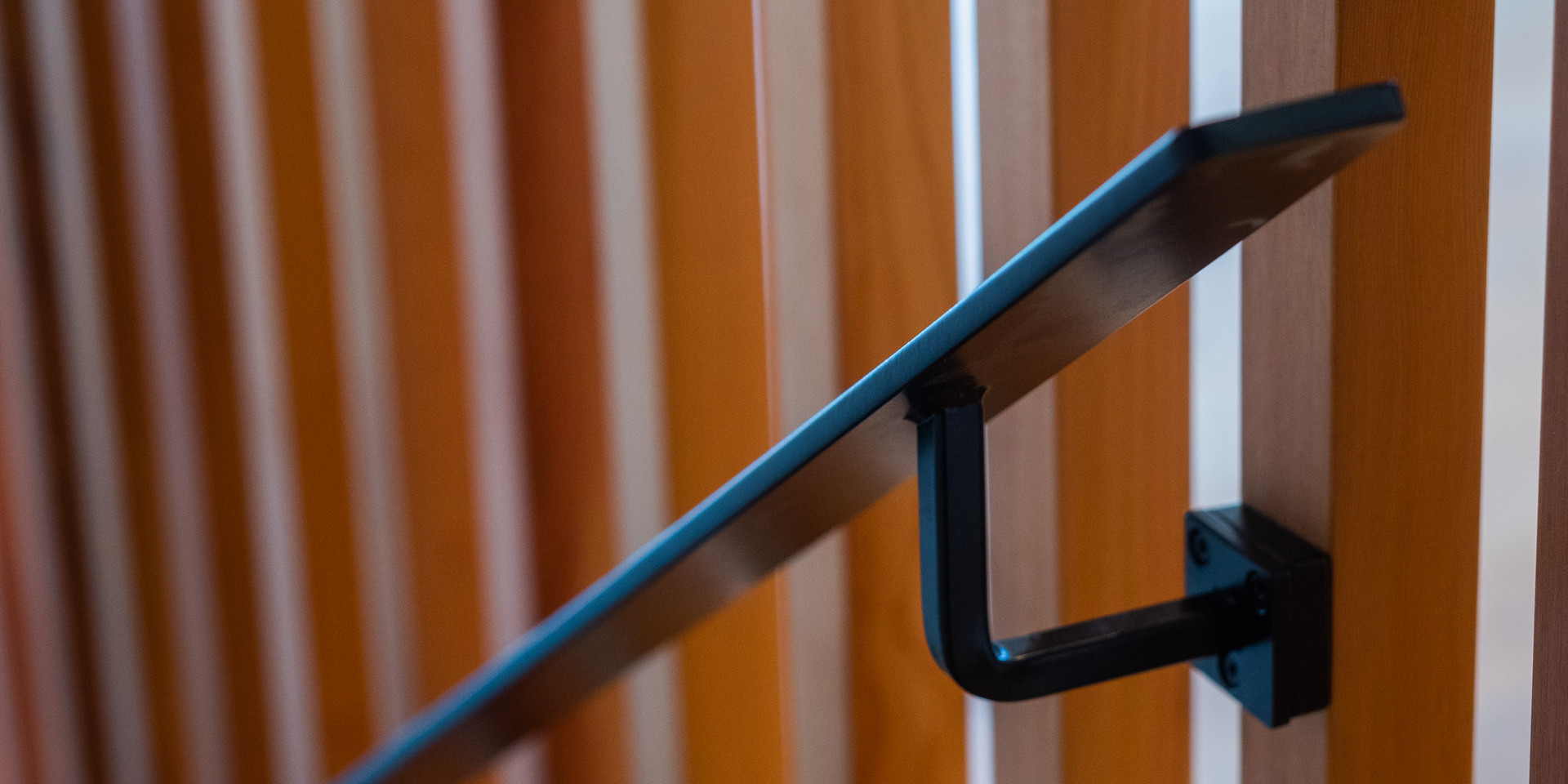 Powdercoated steel handrail