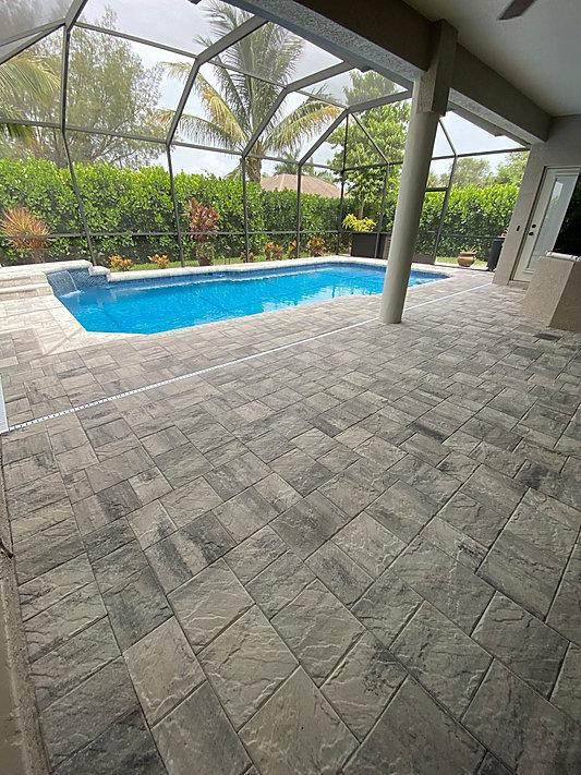 Pave Pool Deck