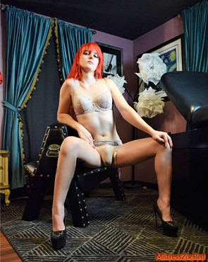 Mistress Zoe in the Sissy Chamber