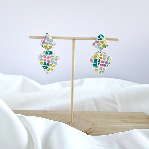 Malu in Stained Glass - Statement Earrings