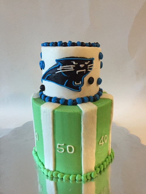 Mini Two Tiered Panthers Cake The Little Baker