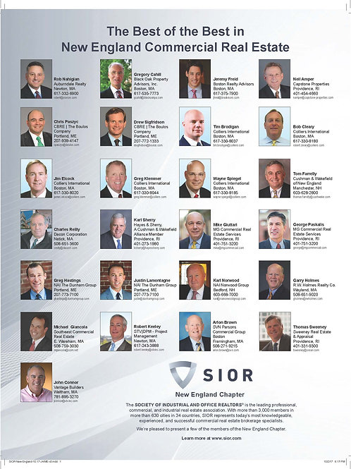 Fall 2019 - NE Real Estate Business SIOR NE Chapter Ad