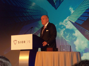 RUDY GIULIANNI SPEAKS AT SIOR FALL WORLD CONFERENCE