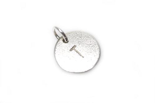 """""""Bubble Tag"""" Vedhæng sølv (4mm Bogstav)"""