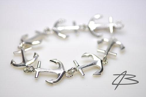 Anker-Facet Armbånd håndlavet i sølv. 45g