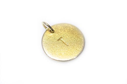 """""""Bubble Tag"""" Vedhæng forgyldt-sølv (4mm Bogstav)"""