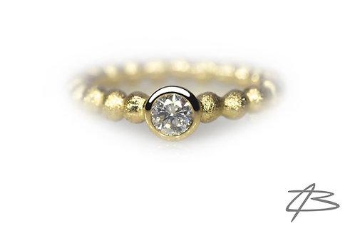 Bubbles & Diamonds i 14kt Alm. guld m.0,40ct