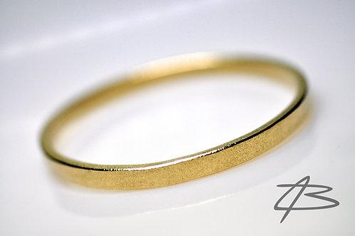 14kt Massiv Guld Armring. Diameter: 63mm