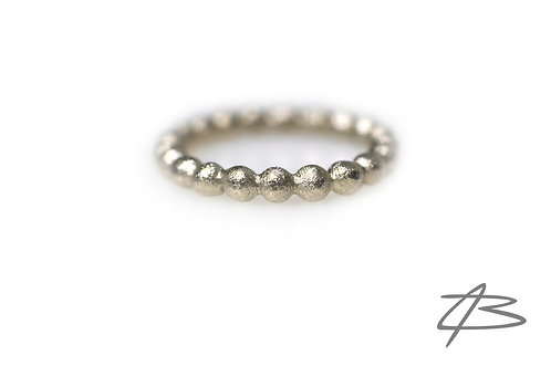 Bubbles & Diamonds ring, 14kt Hvidguld